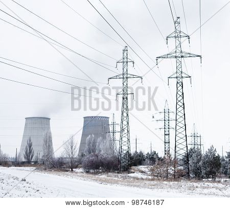 Cogeneration Plant Near Kyiv (ukraine) In Winter