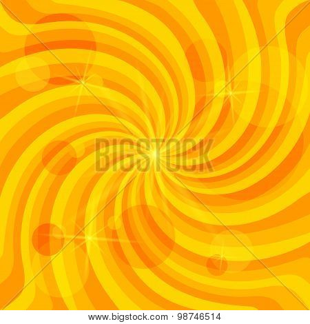 Joyful-spiral-vortex-background-with-stars-on-yellow