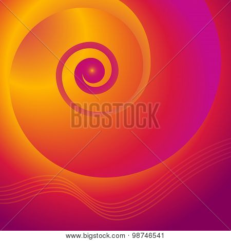 Spiral-gold-purple-background-beautiful-magazine-cover
