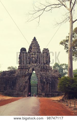 Southern Gate To Angkor Thom, Cambodia