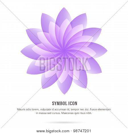Symbol-flower-logo-white-background-insulated