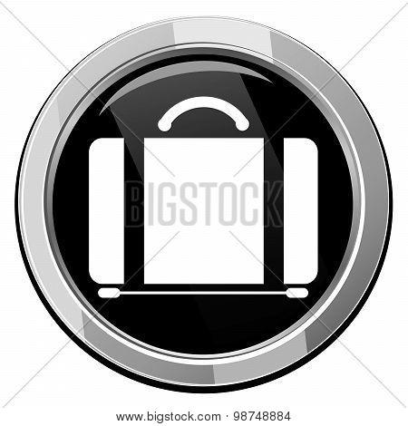 Suitecase. Single Icon. Vector Illustration.