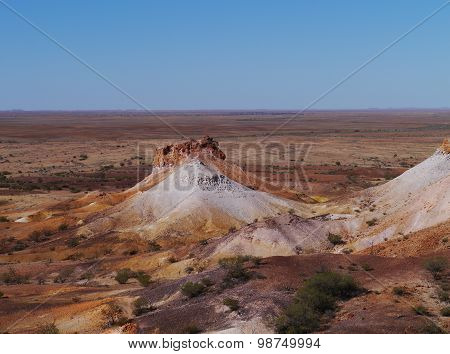 The colorful Breakaways  in the outback Australia