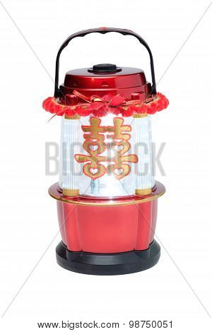 Chinese Led Lantern Lamp With Chinese Double Happiness Symbol