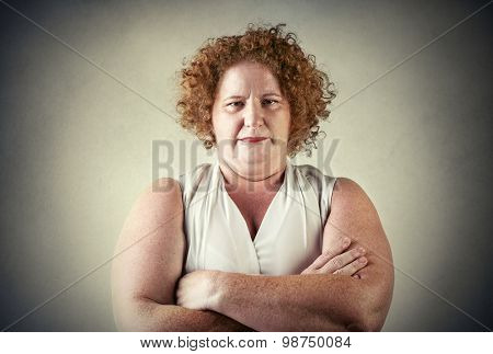 Chubby woman's portrait