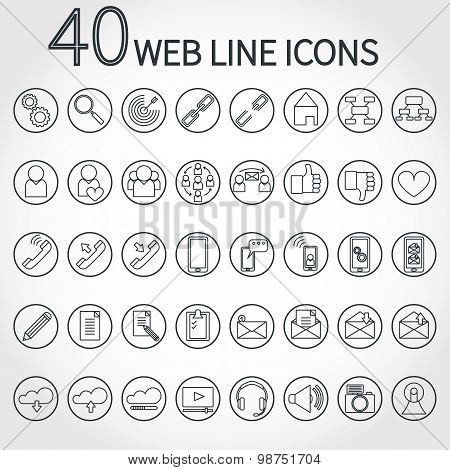 40 webLine Icon