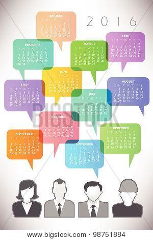 2016 Creative Icon People Calendar
