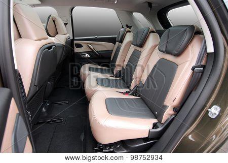 rear seats in a luxury car