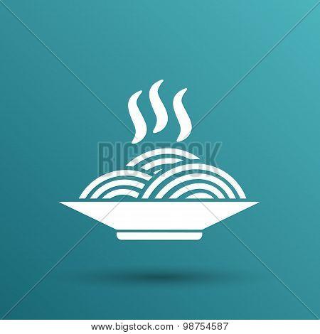 spaghetti on a plate logo dish food kitchen