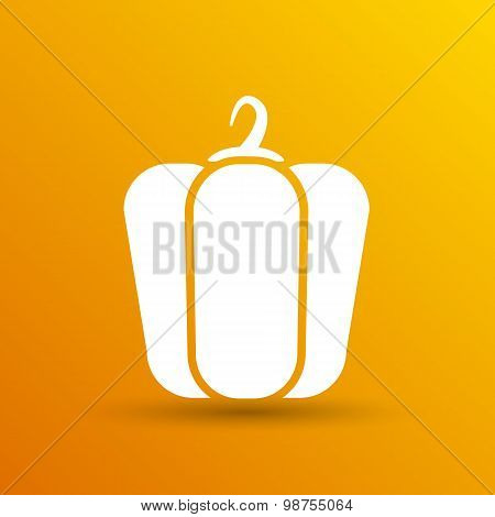 pepper logo bell sweet vector abstract line
