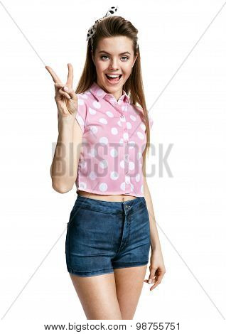 Right Hand Gesture Peace Sign