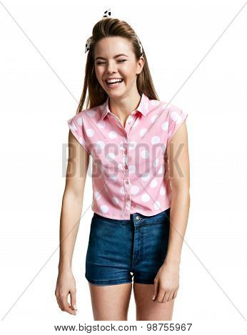 Excited Girl Laughing