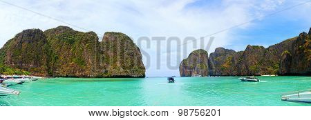 Speedboats Near Maya Bay, Thailand