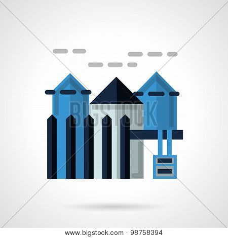 Rental of property flat vector icon