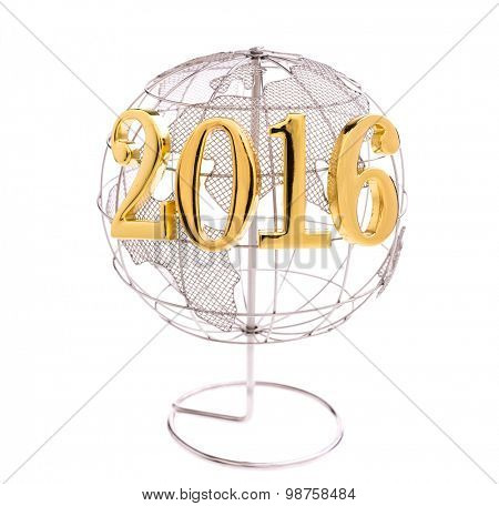 New Year 2016 with earth