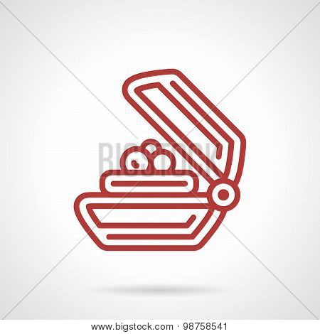 Soap bar red line vector icon