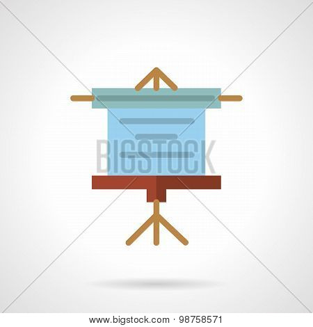 Projector screen flat vector icon