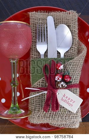 Vintage Style Christmas Table Setting
