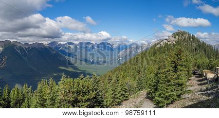 Panorama view of Banff National Park