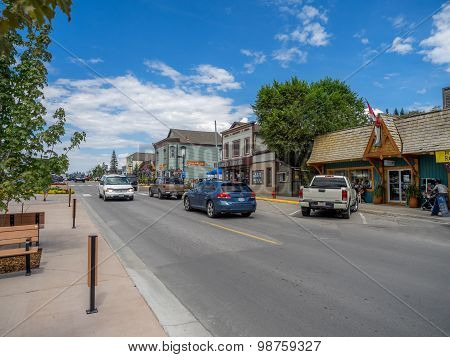 Main street in the town of Invemere