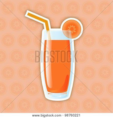 Juice Icon. Carrot