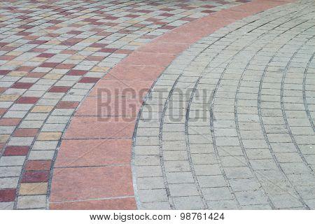 Concrete Block Pavement Walkway