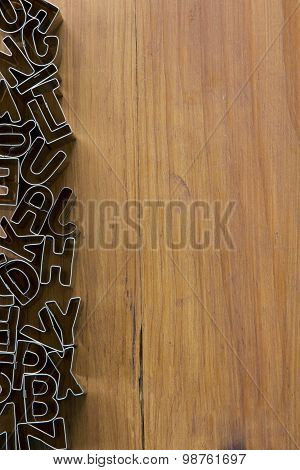 Cookie Cutter Letters from Above - Vertical