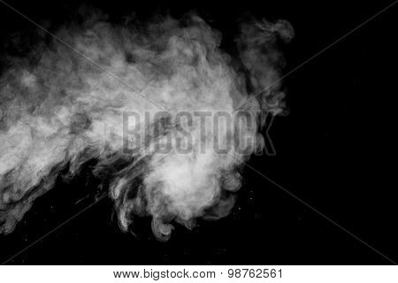 Abstract Steam On A Black Background.