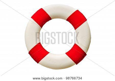 Safety Ring (lifebuoy) isolated on white background.