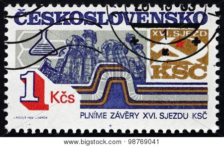 Postage Stamp Czechoslovakia 1983 Chemical Industry