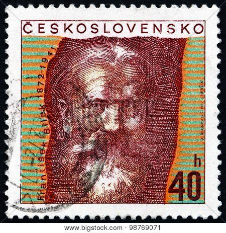 Postage Stamp Czechoslovakia 1972 Frantisek Bilek, Czech Sculptor