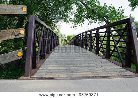 Pedestrian Bridge And Bike