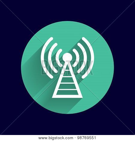 Antenna icon tower radio mast signal antenna vector network