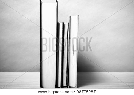 Stand Up Book Black And White Color Tone Style