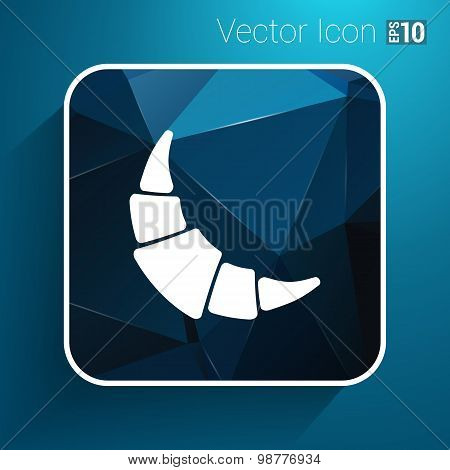 vector logo croissant with calligraphic inscription icon