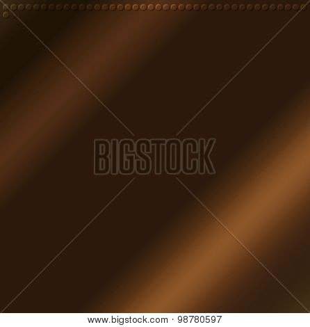 Brown Embossing Metallic Circle Background