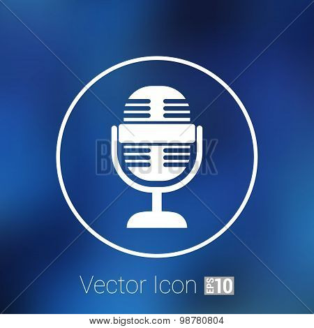 microphone icon broadcasting isolated journalist record
