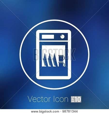 icon dishwasher appliance vector kitchen clean logo