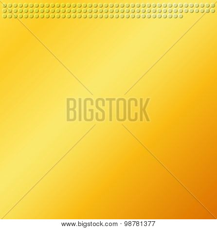 Yellow Brown Emboss Metallic Circle Background