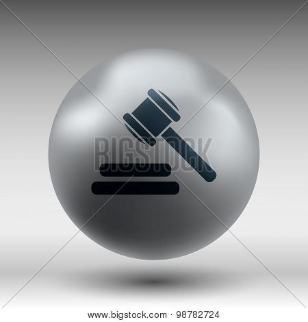 icon gray background gavel law legal hammer