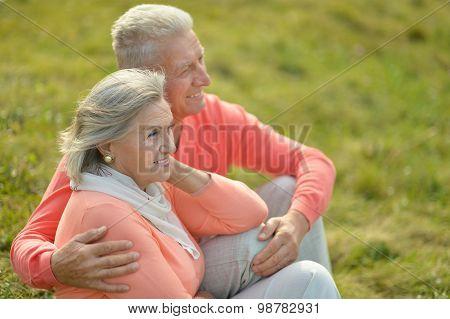 Elderly couple together