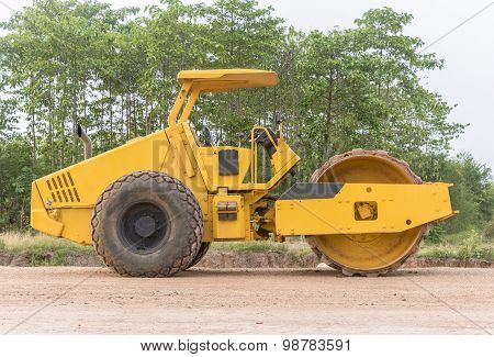 Soil Vibration Roller During
