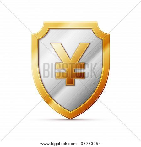 shield with JPY sign