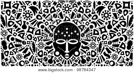 African Abstract Tribal Illustration