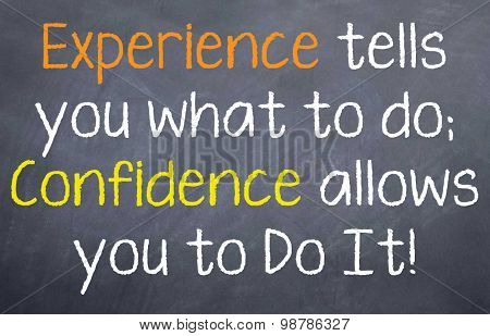 Experience tells...