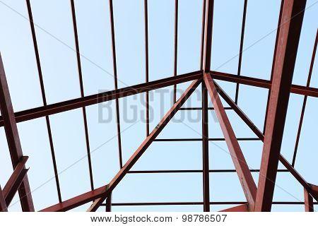Steel Beam In Building Construction Site