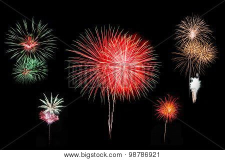 Colorful fireworks background.