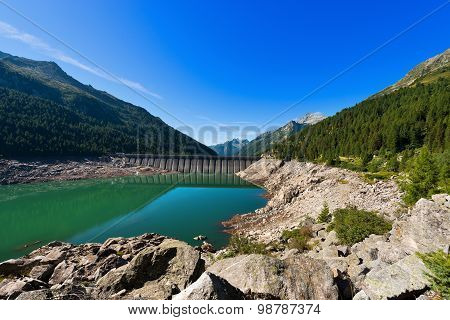 Bissina Lake With Dam - Adamello Trento Italy