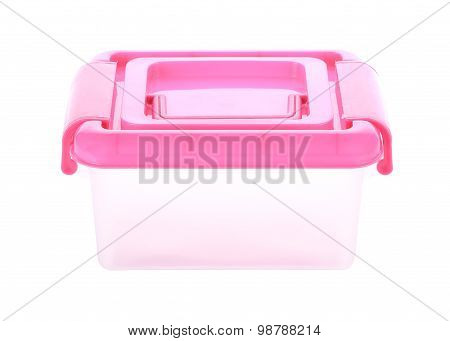 Box Storage Plastic Container Isolated