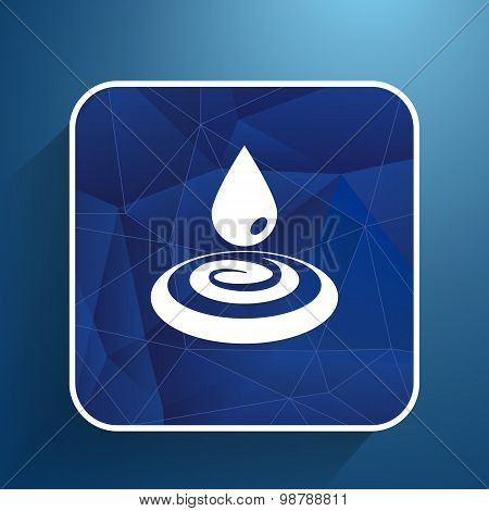 water drop rain vector droplet icon fluid clean design